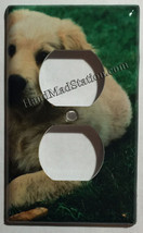 Golden retriever dog Light Switch Power outlet Wall Cover Plate Home decor image 2