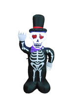 4 Foot Tall Halloween Inflatable Skull Skeleton with Hat Yard Outdoor De... - $905,85 MXN