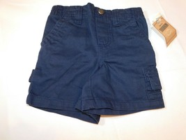 Toughskins Baby Boy's Carpenter Casual Shorts Navy Blue Size 12 Months NWT - $24.74