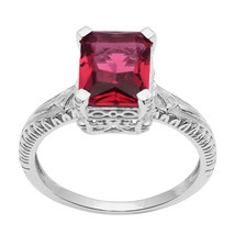 Red Cubic Zirconia 925 Sterling Silver Ring Shine Jewelry Size-8.5 SHRI1585 - $18.62