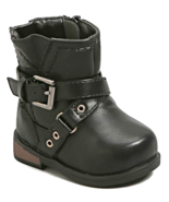 Black Moto Biker Boot Infant Shoes Baby Booties MSRP $26.00 YOU SAVE $5 - $21.00
