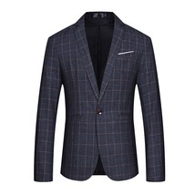 "2018 autumn New style Plaid men""s casual blazers Single buckle Slim Fit ... - $50.00"
