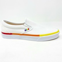 Vans Classic Slip On (Rainbow Foxing) True White LGBTQ Pride Womens Casu... - £42.37 GBP