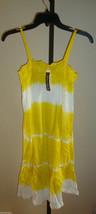 New $39 Raviya Women's Swimsuit Cover-up Lounge Beach Dress Yellow Wht Tie Dye S image 1