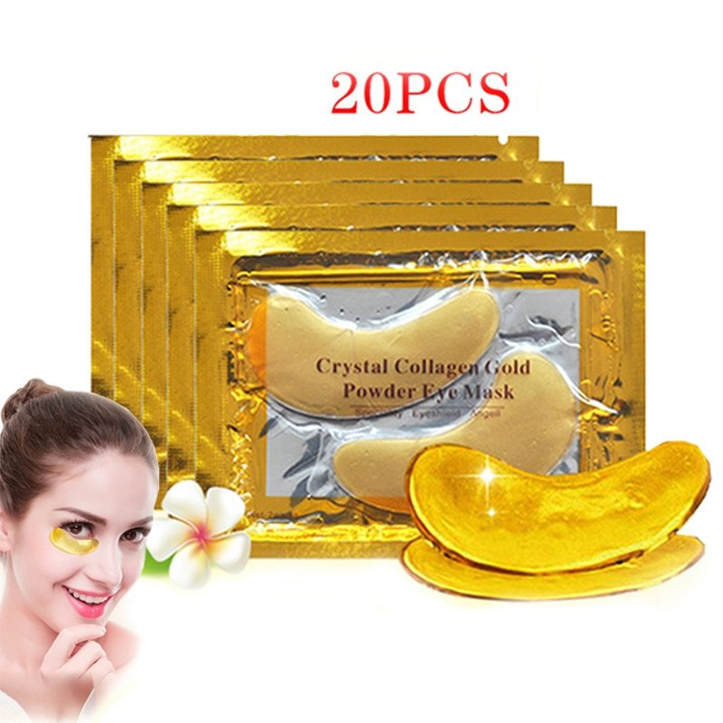 10/20/40Pcs Crystal Collagen Gold Eye Mask Anti-aging Aark - $7.67 - $12.50