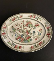 "Indian Tree  ~ Johnson Brothers ~ Oval Serving Platter Greek Key ~ 12 1/4"" - $10.00"
