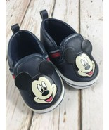 Mickey Mouse Infant Shoes Size 6-9 Months Soft, Slip On - $7.91