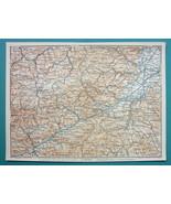 "1905 MAP Baedeker - AUSTRIA Baden W. Neustadt & Environs 6 x 8"" (15 x 20... - $6.08"