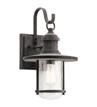 Kichler 49193WZC Rierwood Outdoor Wall Sconces 10in Weathered Zinc Aluminum - $219.99