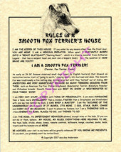 Rules In A Smooth Fox Terrier's House - $20.70