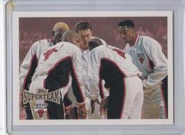 1996-97 Topps Super Team Chicago Bulls Michael Jordan Scottie Pippen Deniss - $4,721.50