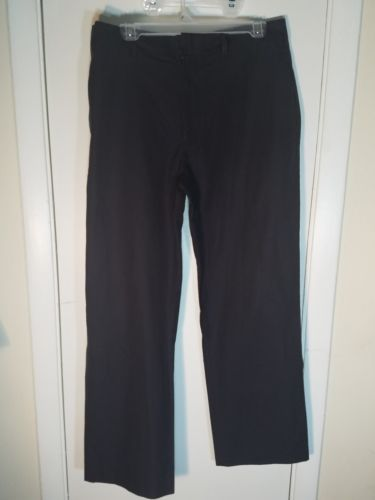 DKNY CHELSEA FIT MENS PANTS SIZE 32 X 30 CHARCOAL GRAY PINSTRIPE ALL COTTON EUC