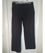 DKNY CHELSEA FIT MENS PANTS SIZE 32 X 30 CHARCOAL GRAY PINSTRIPE ALL COT... - $14.69