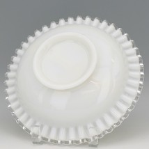 "Vintage Fenton Art Glass Silver Crest Divided 9"" Round Relish Dish image 2"
