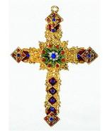 """Kubla Enameled """"gemstone"""" style filigree cross. Fantastic quality! - $13.27 CAD"""