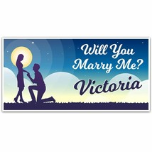 Starry Night Proposal Party Banner Party Decoration Backdrop - $28.22+