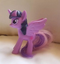"My Little Pony Purple Pegasus Unicorn with wings 2016 pre-owned 3"" Hasbr... - $12.56"