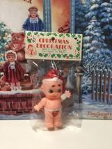 Adorable Vintage MIP Christmas Santa Kewpie Cupie Rubber Doll - $14.95