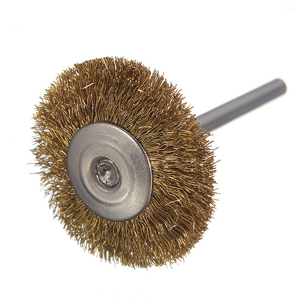 3mm brass wire wheel brushes cup for rust rotary dremel tools drill rust weld die grinder