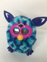 Furby Boom 2012 Hasbro Blue Turquoise White Diamonds  Works Great Tested - $29.69