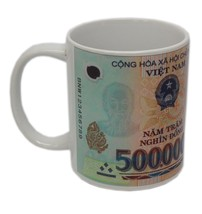 Vietnam 500,000 (500000) Half Million Dong Banknote Collectors Coffee Mug - $14.99
