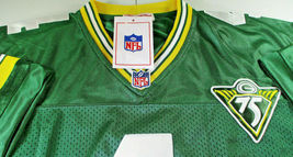 BRETT FAVRE / HALL OF FAME / AUTOGRAPHED PACKERS THROWBACK JERSEY / FAVRE HOLO image 5
