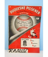 1947 Pittsburgh Pirates Official Baseball Score... - $28.96