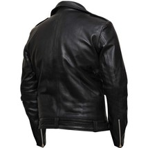 Negan Jeffrey Dean Morgan Walking Dead Black Leather Jacket image 4