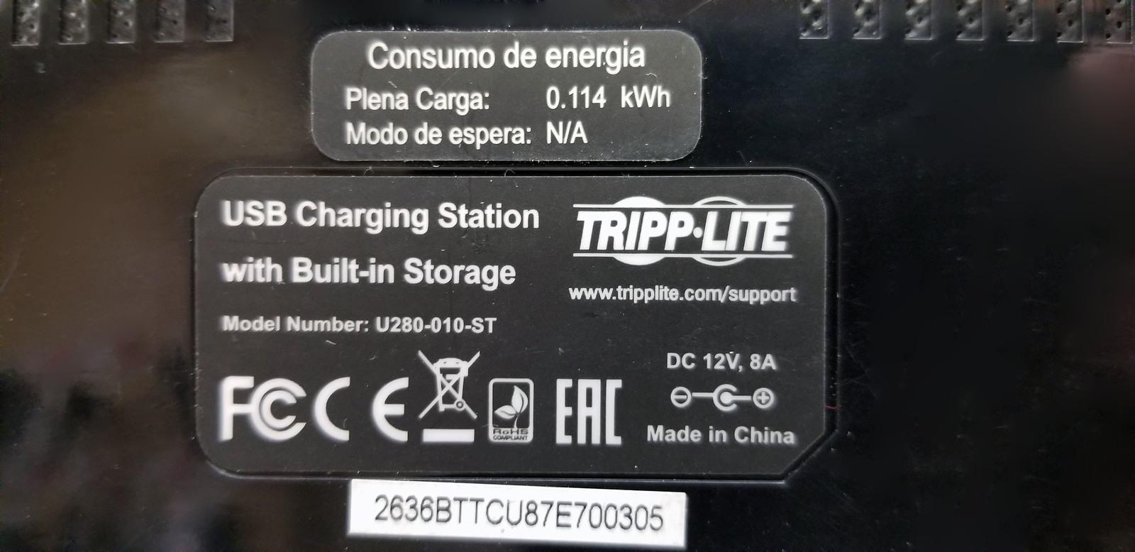 Tripp-Lite 10 Port USB Charging Dock U280-010-ST Bin:6