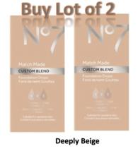 No7 Cool Beige Match Made Custom Blend Foundation Drops 15ml Lot of 2 New  - $14.50