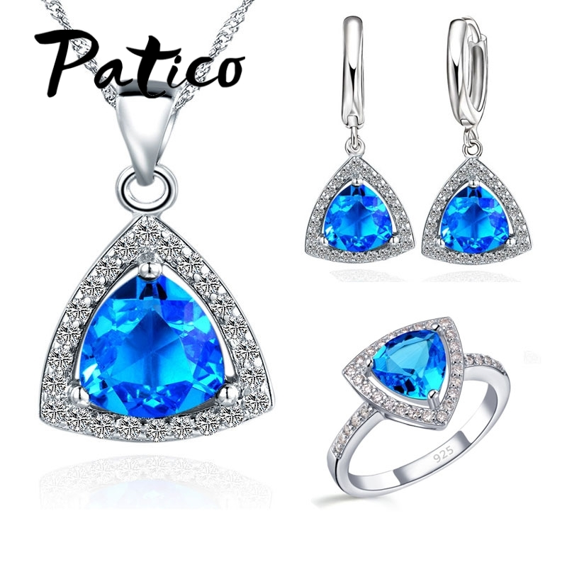 Primary image for Shining Bridal Jewelry Sets AAA Cubic Zircon Stone 925 Sterling Silver Earrings