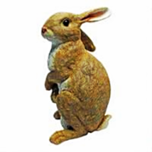 Hopper, the Bunny, Standing garden Rabbit Statue - $35.87