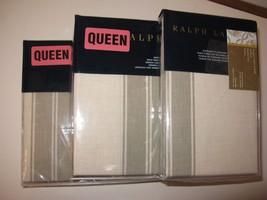 Ralph Lauren Further Lane Ticking AMAGANSETT 4P Queen Sheet Set - $189.95
