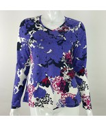 Croft & Barrow Womens Small Purple Pink V-Neck Long Sleeve Tee T-Shirt NWT - $14.95
