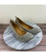 J. Crew Anya Tan Beige Leather Slip On Ballet Flats Womens Size 6.5 - $29.95