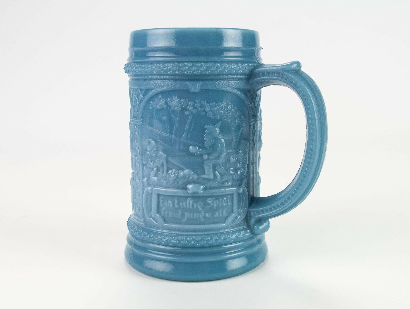 """Westmoreland Elves Blue Milk Glass Mug, Original Antique EAPG c1903 Stein 4 3/4"""" - $34.30"""