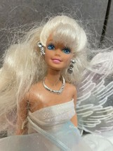 Beautiful white winged Barbie Doll 1976 matttel ruffle dress - $14.80