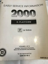 Buick Le Sabre 2000 H-platform 2 Volumes Early Service Information - $60.80