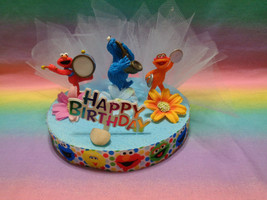 "Sesame Street Cake Topper Table Decor 6"" Styrofoam Base - OOAK - $22.75"