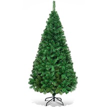 Artificial PVC Hinged Pine Christmas Tree with Solid Metal Stand  - $39.95+