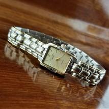 Women's ELGIN Swiss Rectangle Gold & Silver TN Bracelet Watch - $69.95