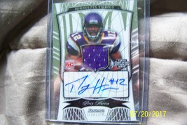 2009 Topps Bowman Sterling Percy Harvin Autographed Worn Jersey Piece Card - $45.00