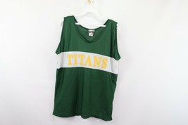 Vtg 90s Womens XL Shiny Nylon Color Block Running Jogging Singlet Tank T... - $19.75