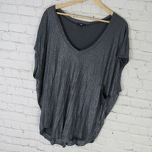 GAP Shirt Top Womens Large L Silver Sparkly - $40.64