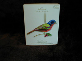 Hallmark 2012 Beauty of Birds - Painted Bunting Christmas Ornament! FREE... - $22.23