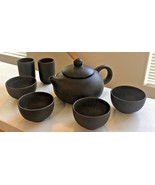 CHINESE YIXING ? Tea Set Teapot Miniature Earthenware Brown Clay Cups #62  - $29.65