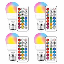 Color Changing Light Bulb, RGB LED Light Bulbs with Remote Control, Dimmable 3W