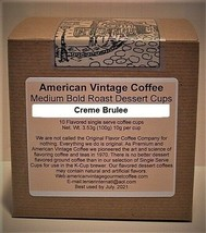 American Vintage Creme Brulee flavored Dessert Coffee 10 Medium Bold K-Cups - $9.21