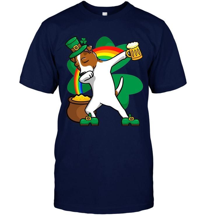 Dabbing Jack Russell Terrier T Shirt St Patricks Day Shirt