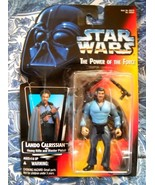 KENNER STAR WARS LANDO CALRISSIAN ACTION FIGURE POWER OF THE FORCE 1995 - $4.99